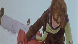 College Girl in Ski Resort