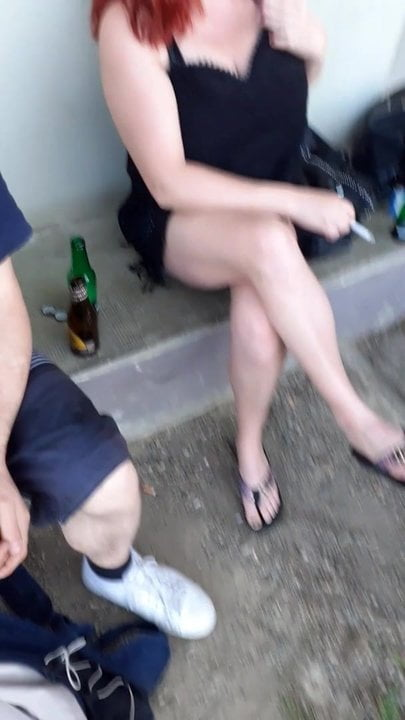 Candid sexy crossed legs