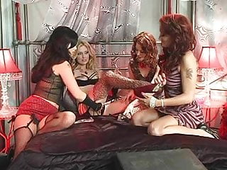 Porn star kelle marie - British slut kelle marie in a lesbian foursome on the bed