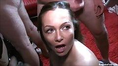 Sexy Milf Samantha Hot Bukkake Party