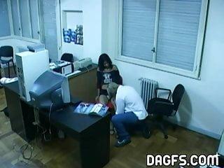 Tit fuck caught - Latin office fuck caught by hidden cam