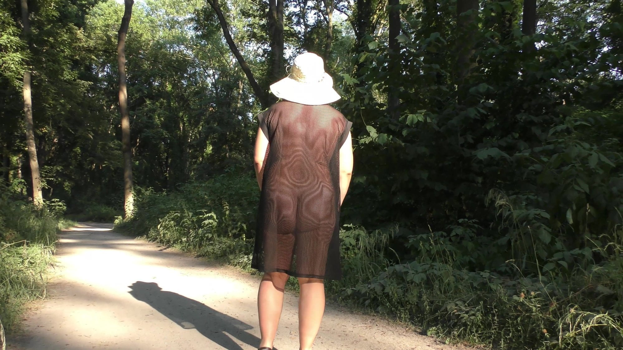 Wife in Transparent Dress in Public Park, Porn b7: xHamster