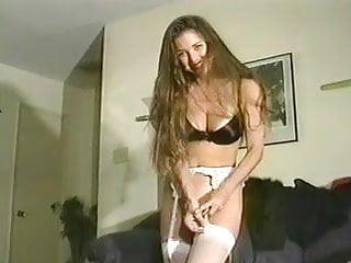 Junior asian panty models Modeling white fullback nylon panties and lingerie
