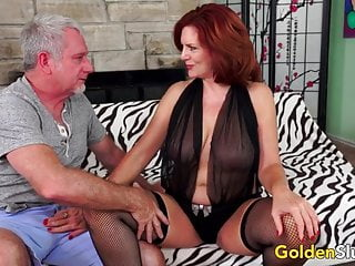 Andie mature - Redheaded mature babe andi james has passionate sex