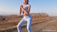 Polska modelka lubi sex randki i ostry anal w samochodzie