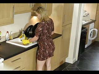 Teen down blouse xxx Down blouse in the kitchen