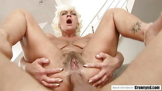 Grandma Loves It Rough In Her Ass And Mouth