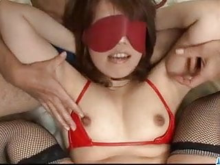 Large nipple bondage Obedient ai ootomo goes down on two large cocks
