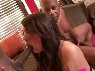 Interracial piss and A. brooke bbc dp with piss and cum