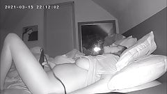 Busty Milf Jackhammers Her Pussy To Fall Asleep – Hidden Cam