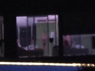 Nude erin andrews hotel Hotel window spy nudes