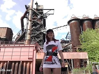 Spunk factory Jeny smith is walking naked through an abandoned factory