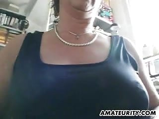 Tremors with facial grimaces - Busty amateur milf sucks and fucks with facial