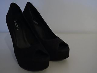 Fetish club videos My sisters shoes: black club heels i 4k