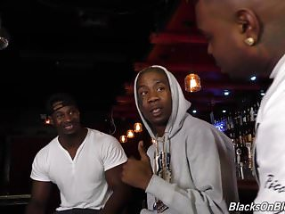 Black gang on white teen video Bar girl kate england offer all three holes to black gang