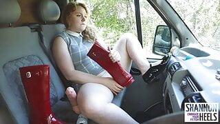 Soaking My Fuck Van in Squirt + Cum - Shannon Heels