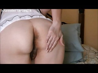 Gotta have hairy pussy - My wife showing her ass and pussy again and having fun