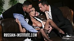 Busty Anissa Kate enjoys the company of two men