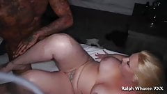 Thick white girl gets fucked in the ass