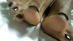 Jane Ebony Feet With Black Nails