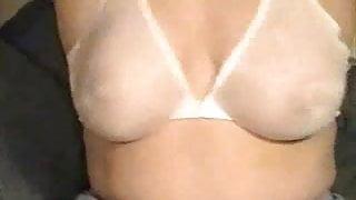 Wife's see thru bra