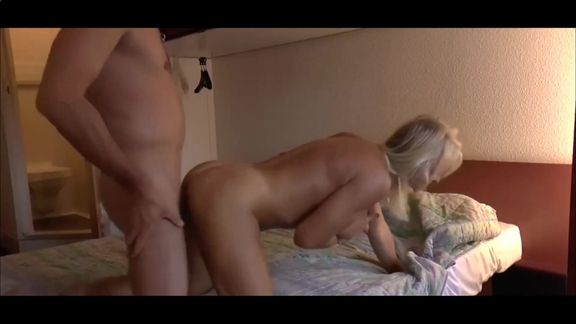 Hot blonde getting fucked hard