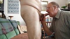 Chrisrug gives a mate a blowjob
