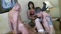Rebecca More Spit Roasted by Young Studs