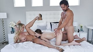 Cute Babe Banged By Foster Mom And StepDad