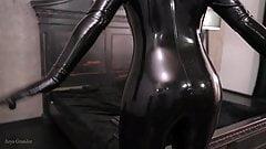 black latex rubber video