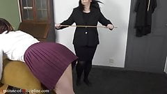 Punishment over gym horse for naughty female