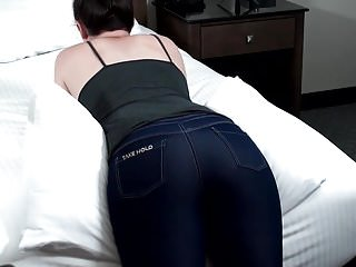 Spanked jeans