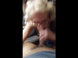 Miley drink cum Toothless granny with glasses sucking dick and drink cum