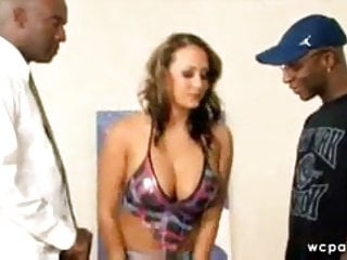 Trina Michaels gets dominated by two friends
