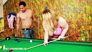 Sashaa Juggs - Pool Shark Stripping