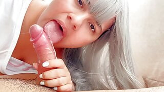 beautiful Latina, I get a blowjob from my stepsister round 1