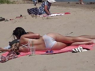 Bikini beach video tubes Bikini beach girl laying