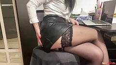 Cutie Fucks Herself with a Dildo, Sucks It And Gets An Orgasm