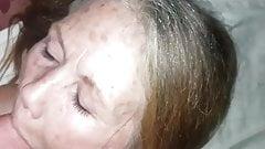 60 year old whore takes facial