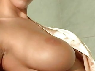 Cheap vintage gowns Busty strips her satin gown