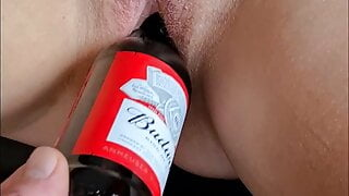 Sexy wife loves a beer