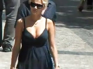 Boob booies cleavage cover rack tit - Candid street boobs cleavage