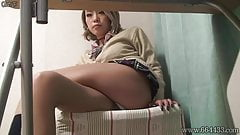 Japanese Schoolgirl wearing Uniform and Miniskirt