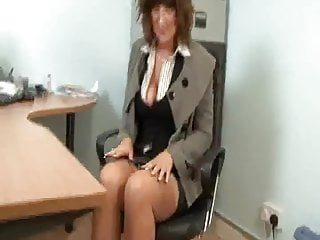 Mature foots Sexy mature secretary full fashion stockings