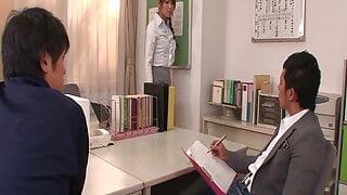 Japanes School Teacher shows her Deepthroat Skills