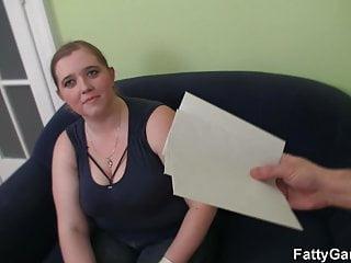 Sexy stranger for money - Big belly fatty seduces a stranger for money