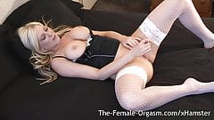 Very Wet After Masturbating with Vibrator to Pulsing Orgasm
