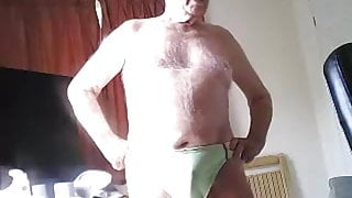 Really horny elderly guy wants and then shows off