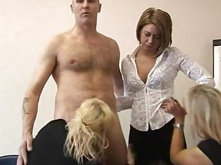 Tug fuckers - Cfnm femdoms suck after tugging