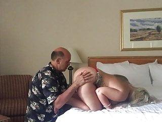 Man-eating vagina - Old man eating busty young peach